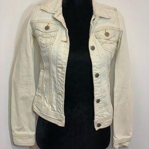 Juniors cream denim jacket (Abercrombie)
